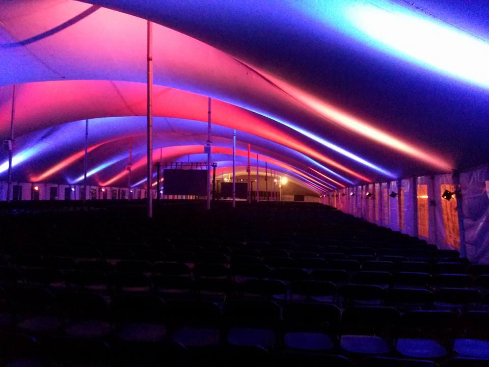 Tent w/ Audio, Lighting, & Video Walls
